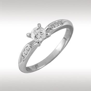 Кольцо из белого золота Бриллиант арт. 90395 90395