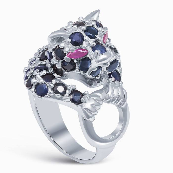 Серебряное кольцо Рубин и Сапфир арт. 27948 27948