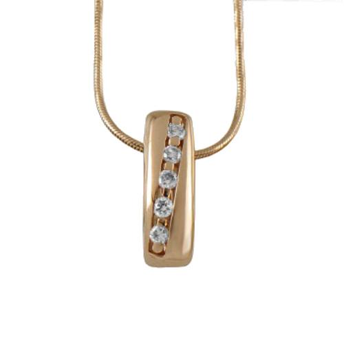 Золотое колье с бриллиантом арт. 90468 90468