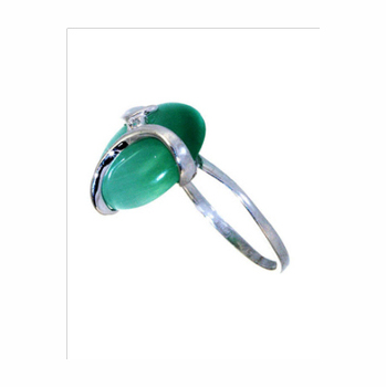 Серебряное кольцо Турмалин и Фианит арт. 4к-80269-04 4к-80269-04
