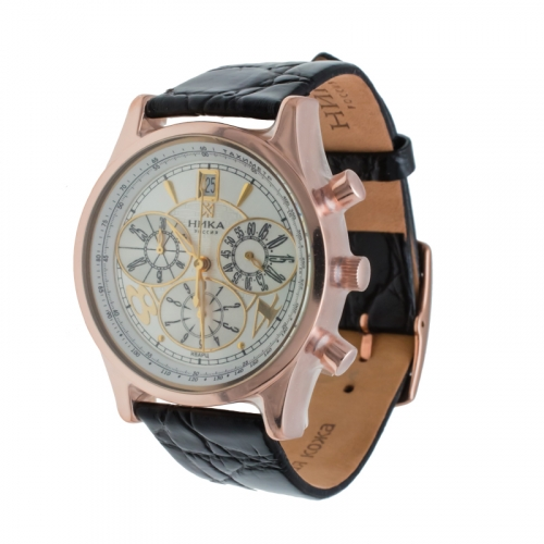 Мужские часы из золота кварцевые с хронографом арт. 1046.0.1.22н 1046.0.1.22н