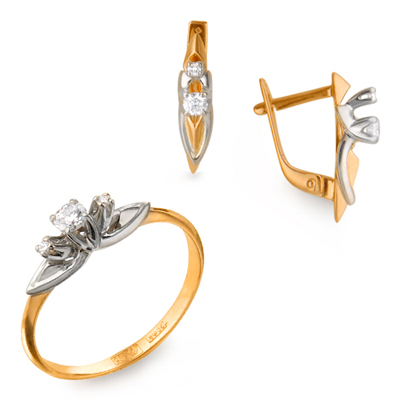Кольцо из лимонного золота Бриллиант арт. 23010110127 23010110127