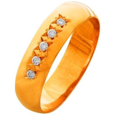Обручальное кольцо из золота с бриллиантом арт. к-517-110 к-517-110