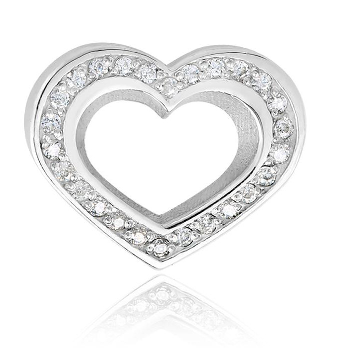 Ювелирная накладка из серебра с фианитом арт. 8403.2.91 8403.2.91