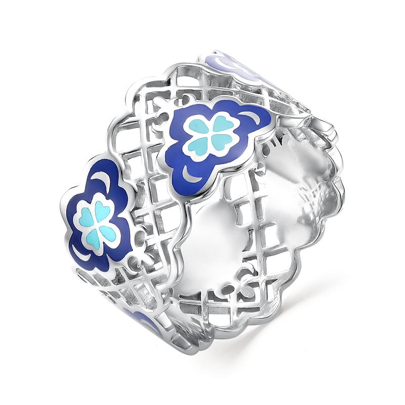 Серебряное кольцо Фианит и Эмаль арт. 01-0251/0эм1-00 01-0251/0эм1-00