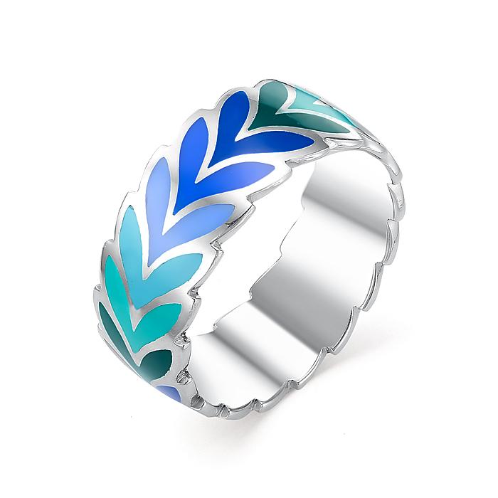 Серебряное кольцо Эмаль арт. 01-0252/эм12-00 01-0252/эм12-00