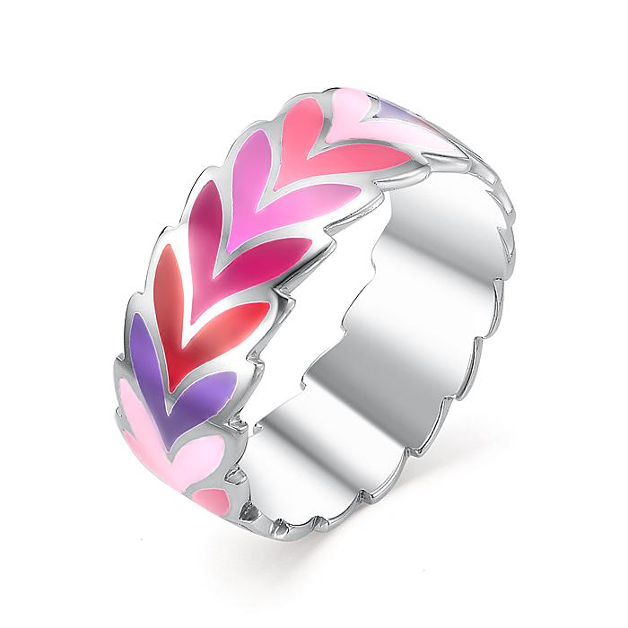 Серебряное кольцо Эмаль арт. 01-0252/эм13-00 01-0252/эм13-00