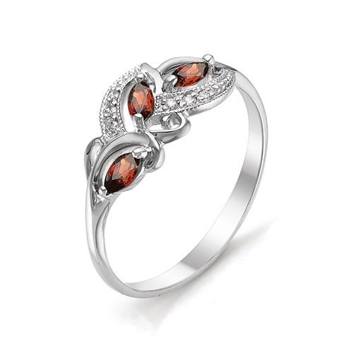 Серебряное кольцо Гранат и Фианит арт. 01-0267/00гр-00 01-0267/00гр-00