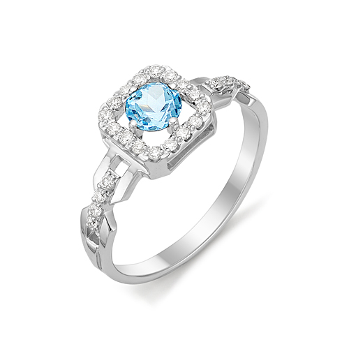 Серебряное кольцо Топаз арт. 01-0275/00тб-00 01-0275/00тб-00