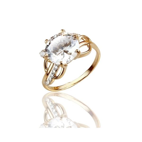 Золотое кольцо Фианит арт. к-4017 к-4017