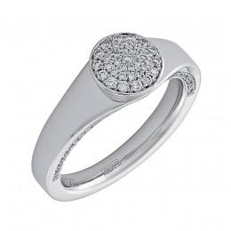 Кольцо из белого золота Бриллиант арт. 010544-б 010544-б