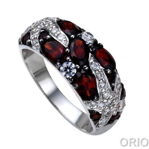 Серебряное кольцо Гранат и Фианит арт. 41100063 41100063