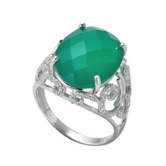 Серебряное кольцо Агат и Фианит арт. 41100070 41100070