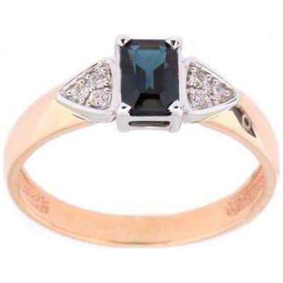Золотое кольцо Бриллиант и Сапфир арт. 880260-б/с1 880260-б/с1