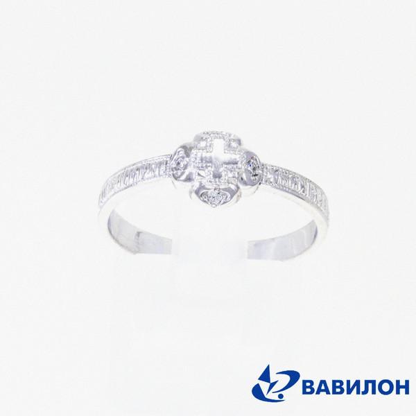 Обручальное кольцо из серебра с фианитом арт. 1502328 1502328