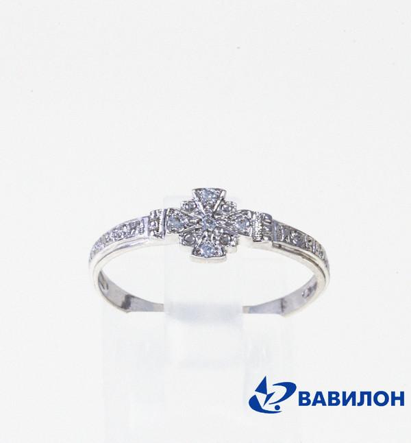 Обручальное кольцо из серебра с фианитом арт. 1502488 1502488
