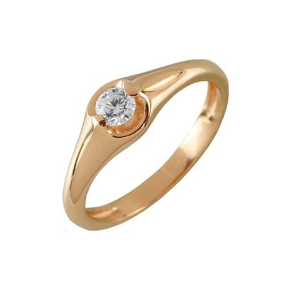 Помолвочное кольцо из золота с бриллиантом Бриллиант арт. 90512 90512