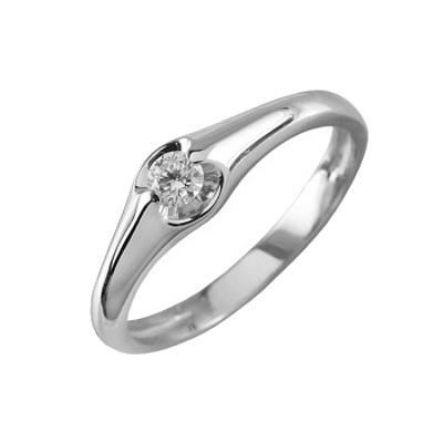 Помолвочное кольцо из белого золота с бриллиантом Бриллиант арт. 90515-I 90515-I