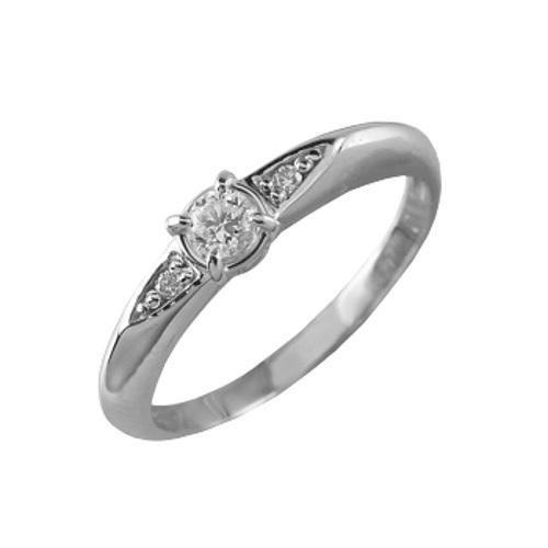 Кольцо из белого золота Бриллиант арт. 90529-I 90529-I