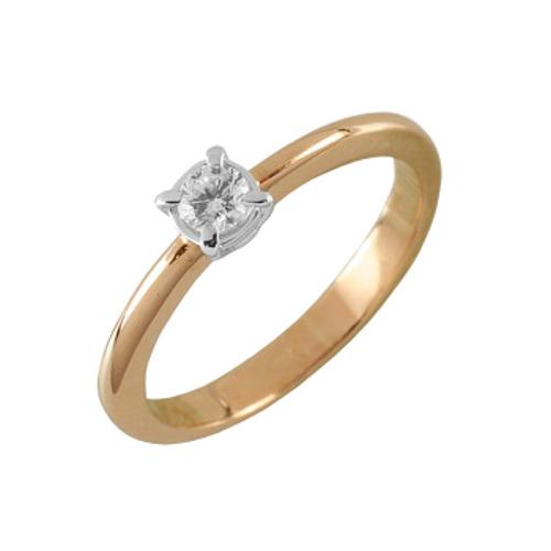Помолвочное кольцо из золота с бриллиантом Бриллиант арт. 90534 90534