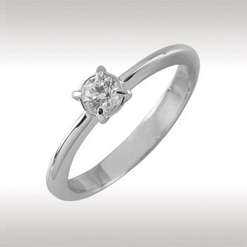 Помолвочное кольцо из белого золота с бриллиантом Бриллиант арт. 90531-I 90531-I