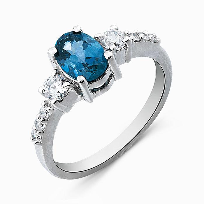Серебряное кольцо Топаз и Фианит арт. 05285 05285