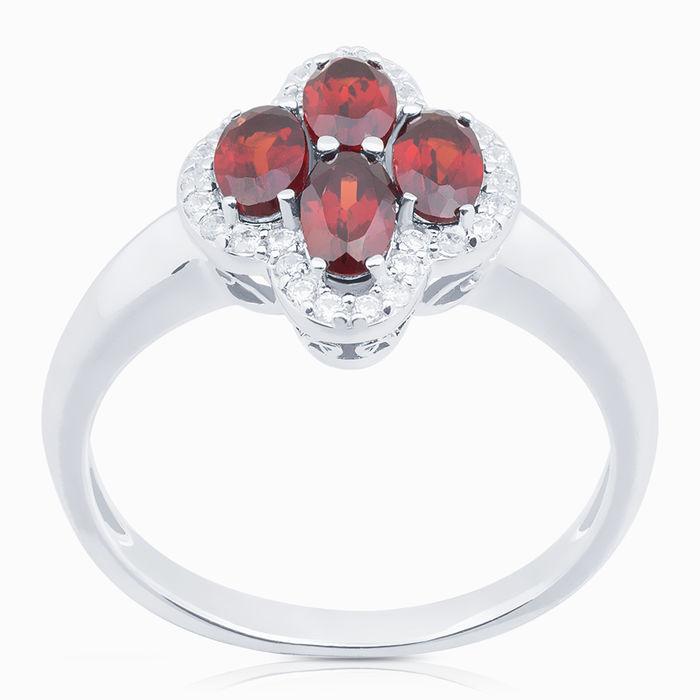 Серебряное кольцо Гранат и Фианит арт. 08187 08187