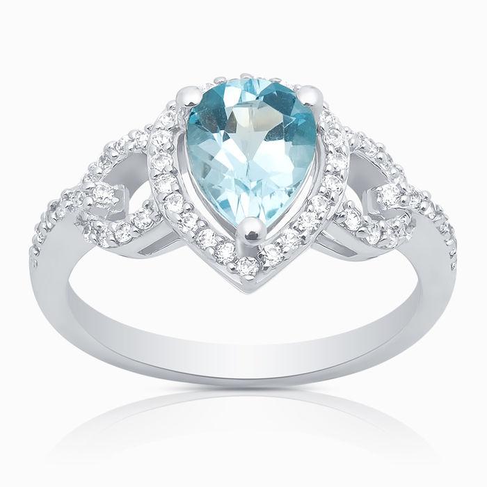 Серебряное кольцо Топаз и Фианит арт. 05996 05996