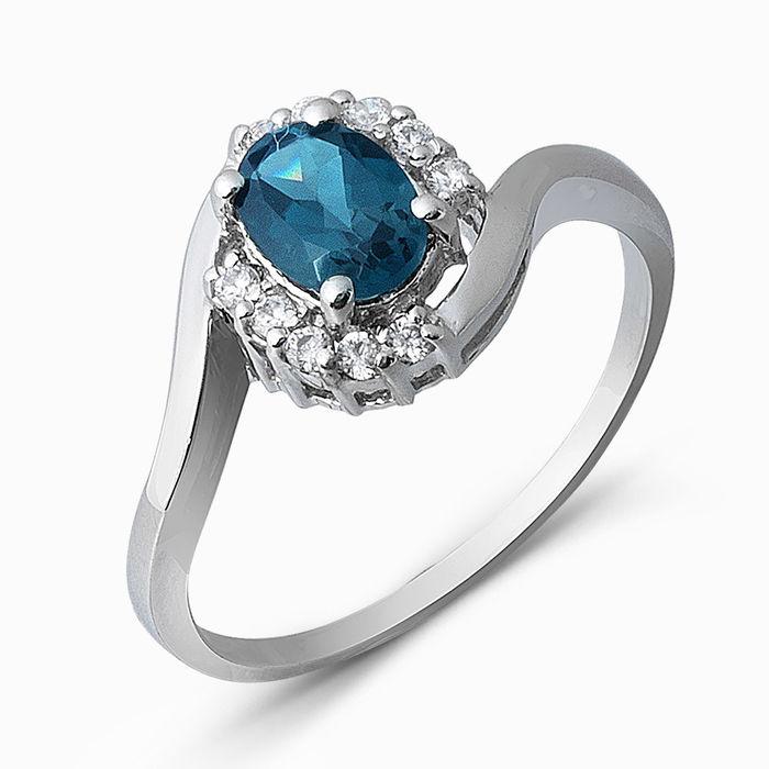 Серебряное кольцо Топаз и Фианит арт. 05334 05334