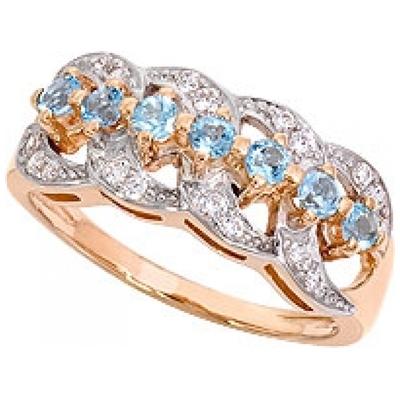 Золотое кольцо Топаз и Фианит арт. 1009041-11130-т 1009041-11130-т