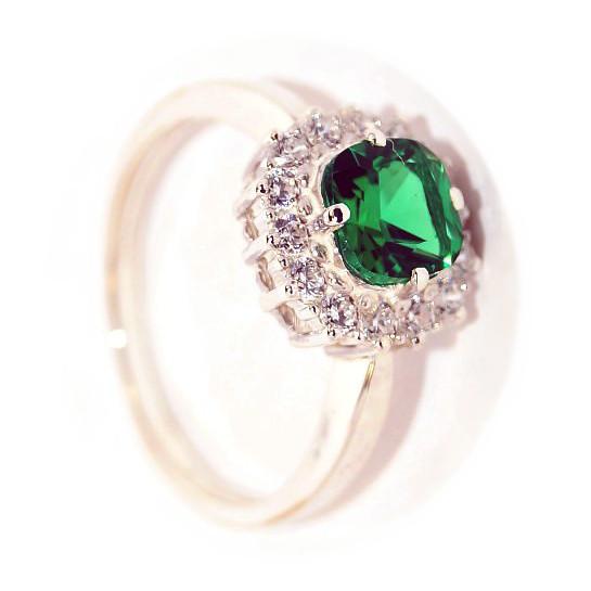 Серебряное кольцо Кварц и Фианит арт. я43500387 я43500387