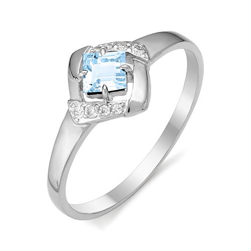 Серебряное кольцо Топаз и Фианит арт. 01-0270/00тб-00 01-0270/00тб-00
