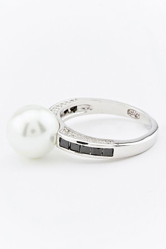 Серебряное кольцо Жемчуг и Фианит арт. r906628a r906628a
