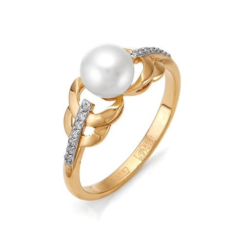 Золотое кольцо Бриллиант и Жемчуг арт. 1-105-738-28 1-105-738-28