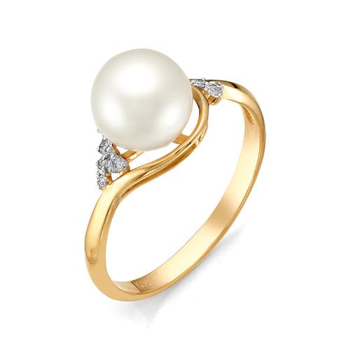 Золотое кольцо Бриллиант и Жемчуг арт. 1-105-754-28 1-105-754-28