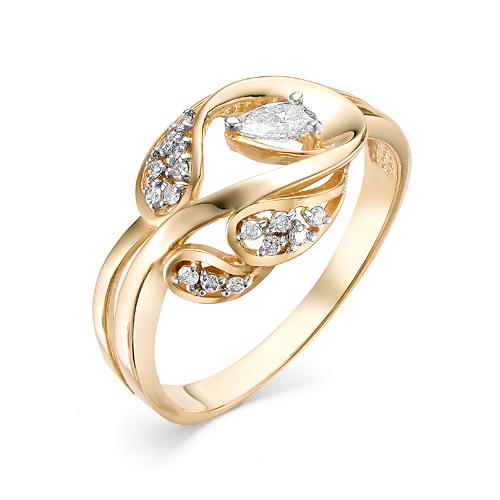 Кольцо из белого золота Бриллиант арт. 1-106-424 1-106-424