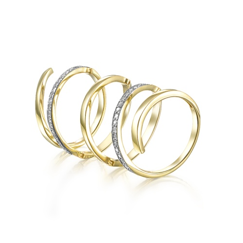 Кольцо из лимонного золота Бриллиант арт. 1-106-597 1-106-597