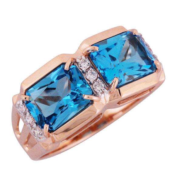 Золотое кольцо Аметист и Фианит арт. 1310553 1310553