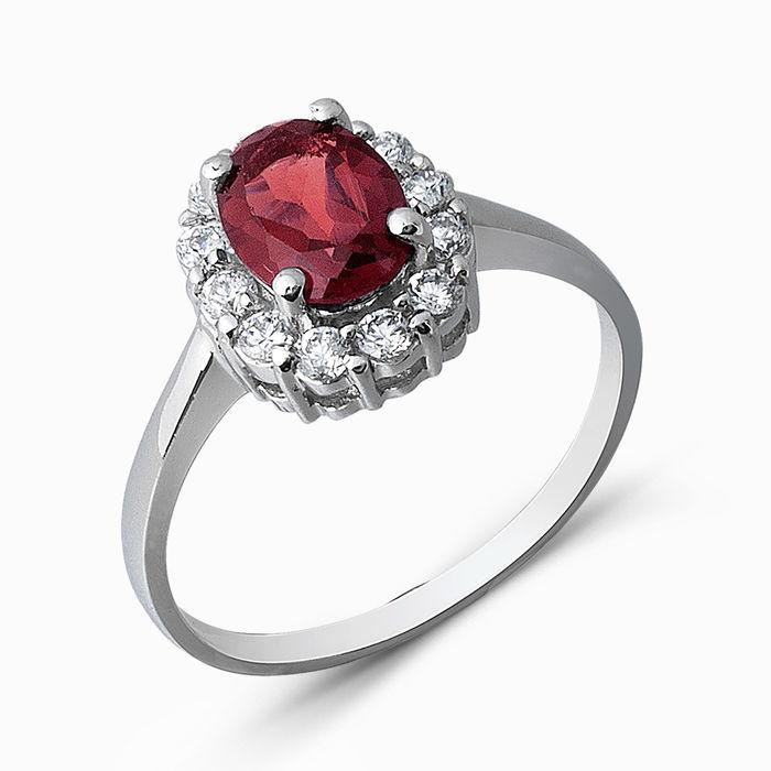 Серебряное кольцо Гранат и Фианит арт. 05323 05323