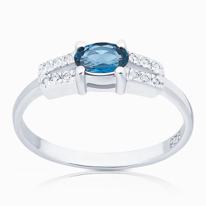 Серебряное кольцо Топаз и Фианит арт. 05028 05028
