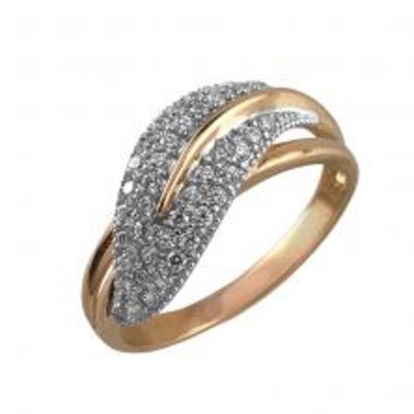Кольцо серебряное с позолотой Фианит арт. 2318-4 2318-4