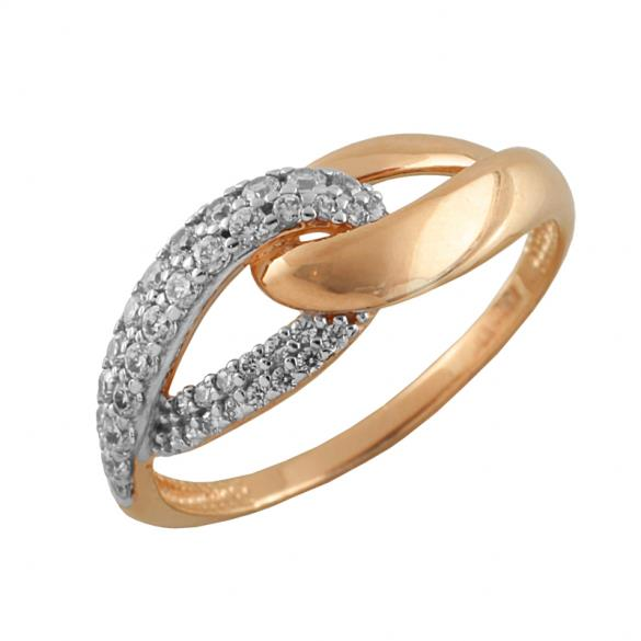 Кольцо серебряное с позолотой Фианит арт. 3625-4 3625-4