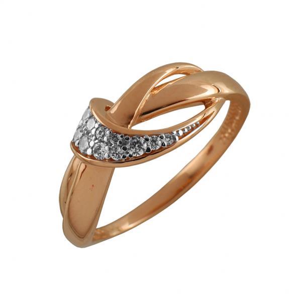 Кольцо серебряное с позолотой Фианит арт. 3651-4 3651-4