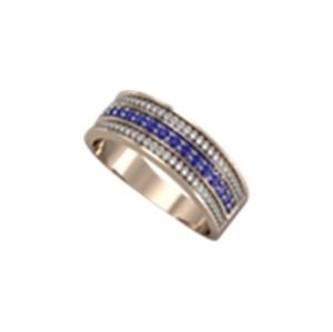 Кольцо из белого золота Бриллиант и Рубин арт. к00539р к00539р