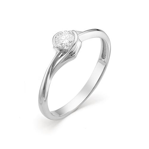 Кольцо из белого золота Бриллиант арт. 1-106-328 1-106-328