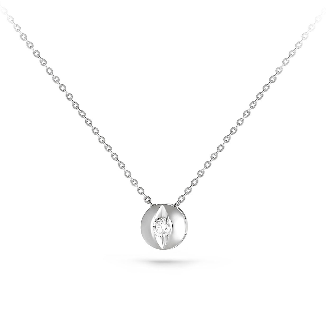 Колье из белого золота с бриллиантом арт. 6-1053 6-1053