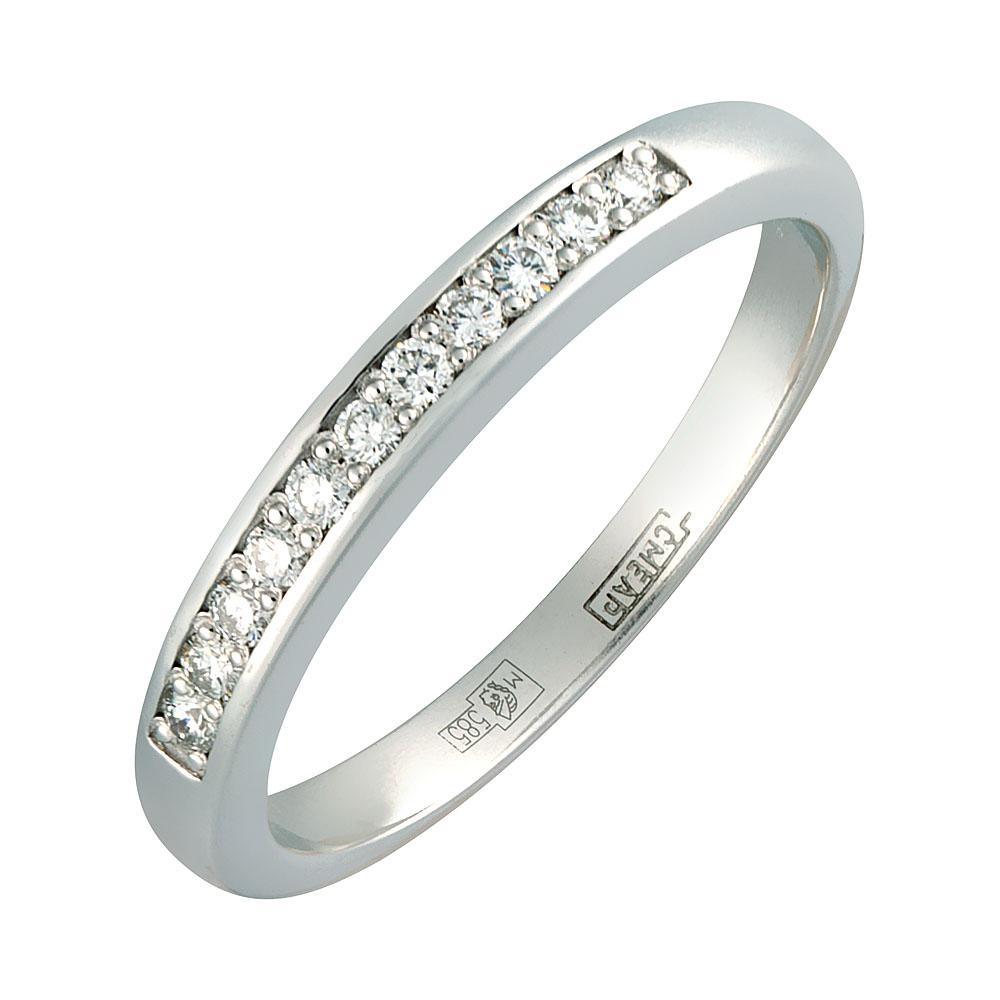 Обручальное кольцо из белого золота с бриллиантом арт. 0256 0256