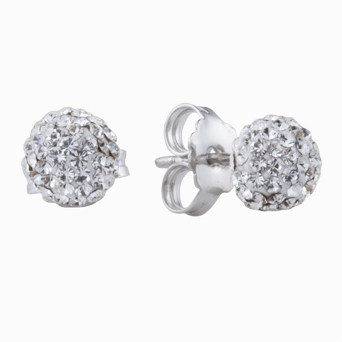 Серьги пусеты из серебра с кристаллом сваровски арт. 40868 40868
