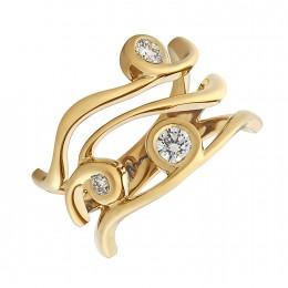 Кольцо из лимонного золота Бриллиант арт. 010623-ж 010623-ж