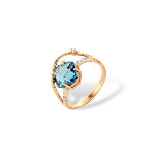 Золотое кольцо Гранат и Фианит арт. 1180567 1180567